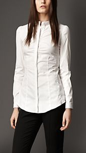 Fitted Frill Detail Shirt