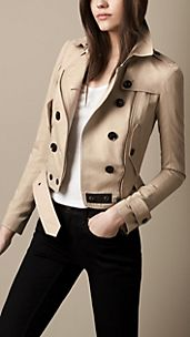 Studded Undercollar Trench Jacket