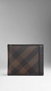 Cartera con visor para DNI de checks smoked