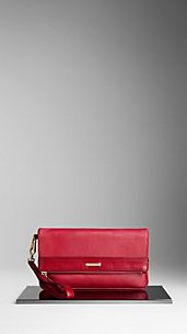 London Leather Folding Wristlet