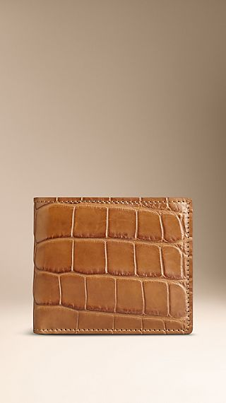 Alligator Leather Folding Wallet