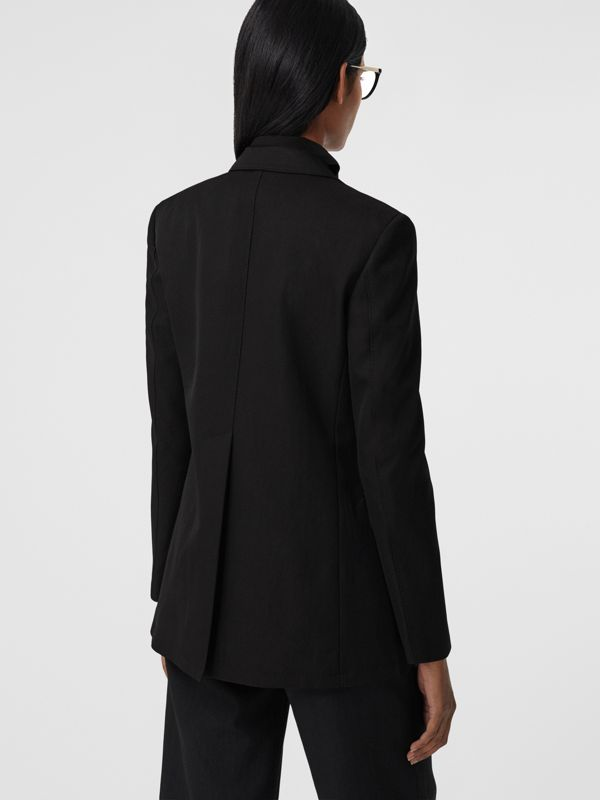 Technical Wool Gabardine Tailored Jacket in Black - Women | Burberry - cell image 2