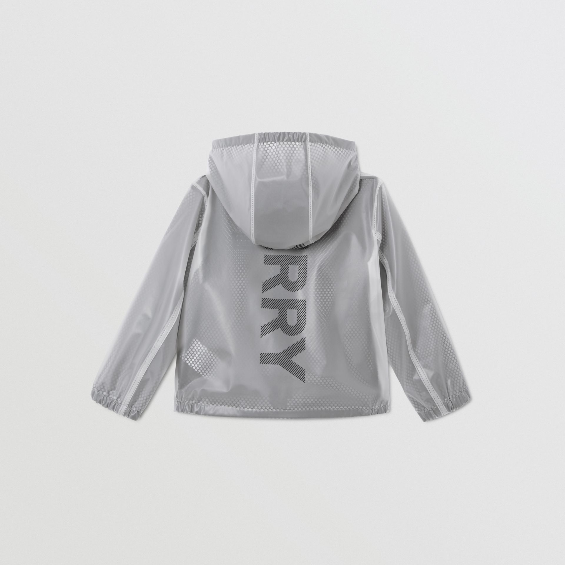 Logo Print Lightweight Hooded Jacket in Clear | Burberry - gallery image 5