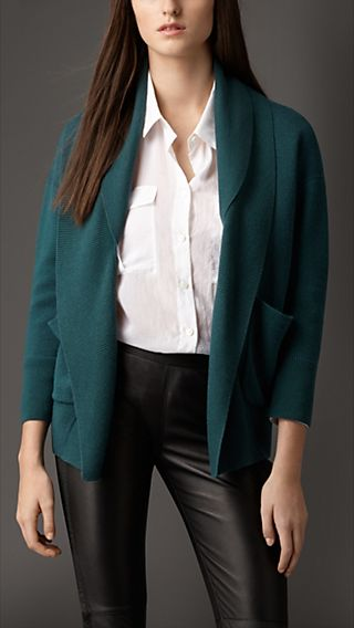 Shawl Collar Silk Cashmere Cardigan