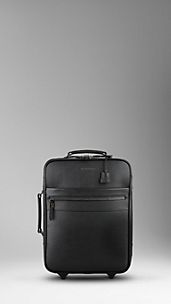 London Leather Carry-On Suitcase