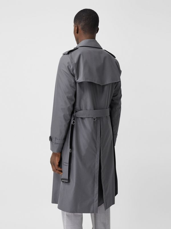 Trench Heritage long The Chelsea (Gris Moyen) - Homme | Burberry Canada - cell image 2