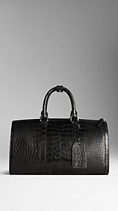 Polished Alligator Leather Holdall