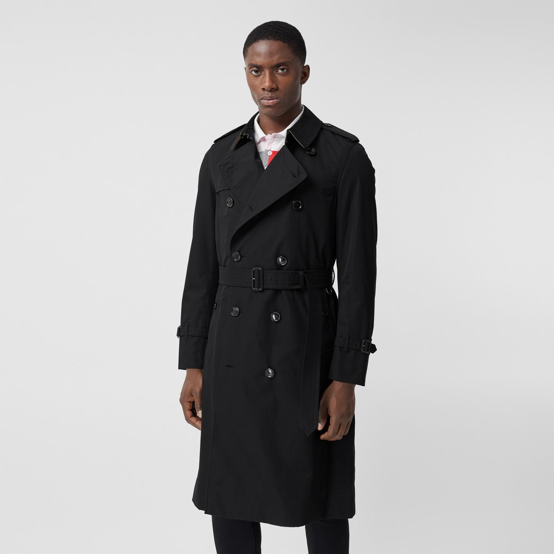 The Chelsea - Trench coat Heritage longo (Preto) - Homens | Burberry - galeria de imagens 6