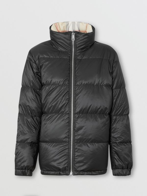 Reversible Check Puffer Jacket in Black - Women | Burberry - cell image 3