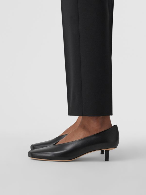 Lambskin Sculptural Kitten-heel Pumps in Black - Women | Burberry - cell image 2