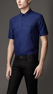 Modern Fit Cotton Linen Shirt