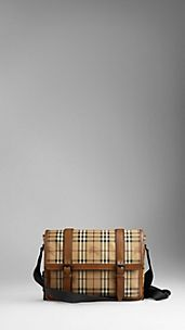 Medium Vintage Haymarket Check Messenger Bag