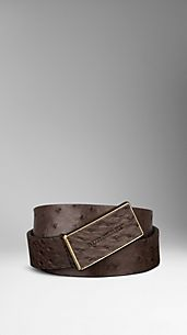 Ostrich Leather Belt