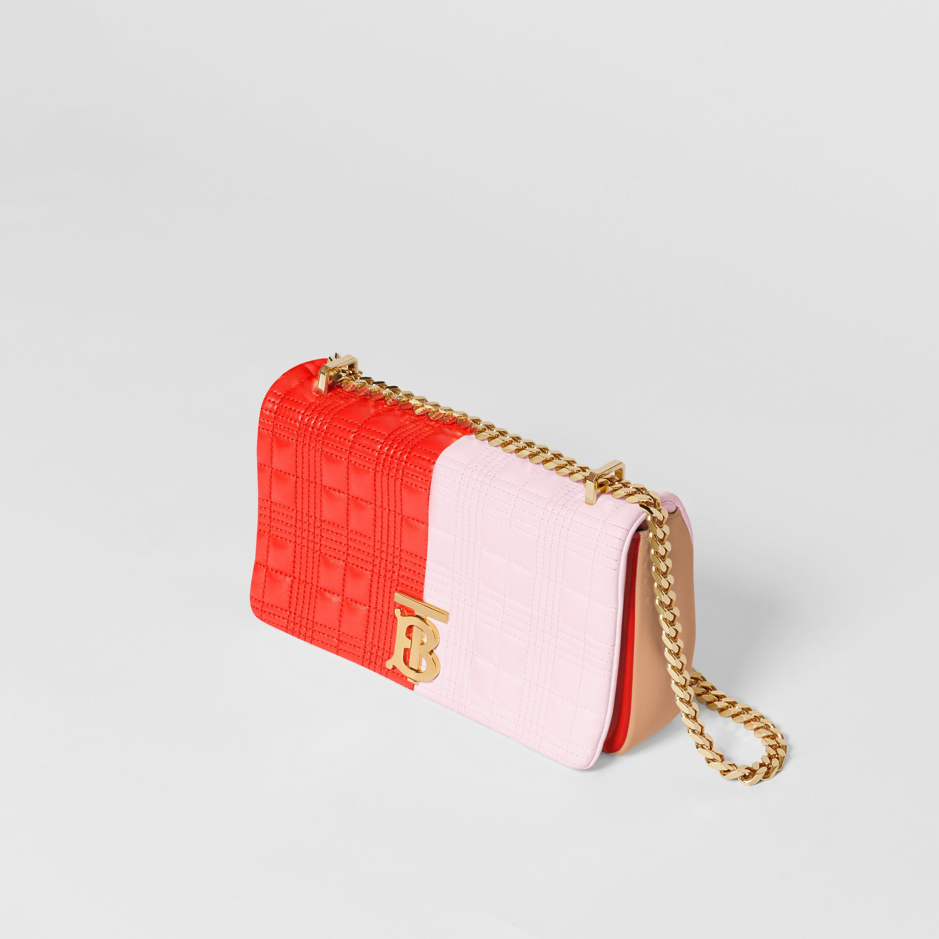 Small Quilted Tri-tone Lambskin Lola Bag in Red/pink/camel - Women | Burberry - gallery image 2