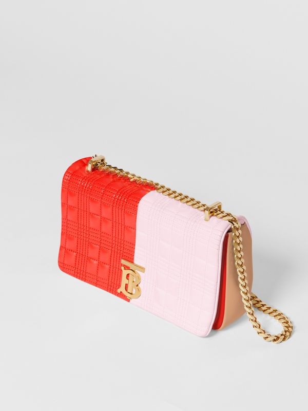 Small Quilted Tri-tone Lambskin Lola Bag in Red/pink/camel - Women | Burberry - cell image 3