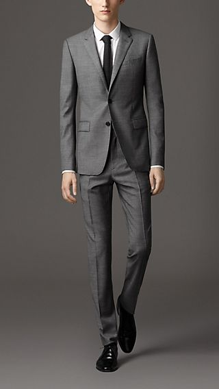 Travel Tailoring Wool Sharkskin Suit