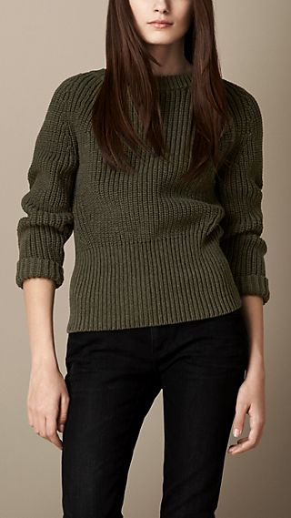 Ribbed Wool Cotton Sweater