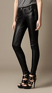 Leather Skinny Fit Trousers