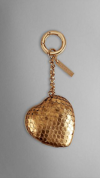 Python Detail Heart Locket Key Charm