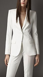 Tailored Crêpe Jersey Jacket