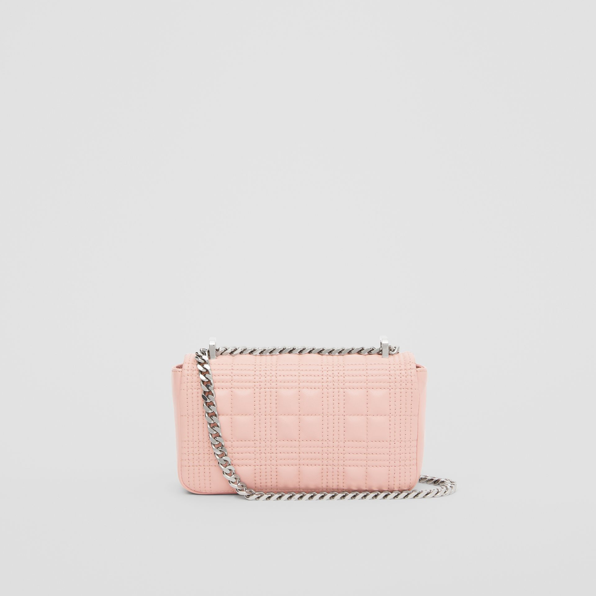 Mini Quilted Lambskin Lola Bag in Blush Pink - Women | Burberry - gallery image 7