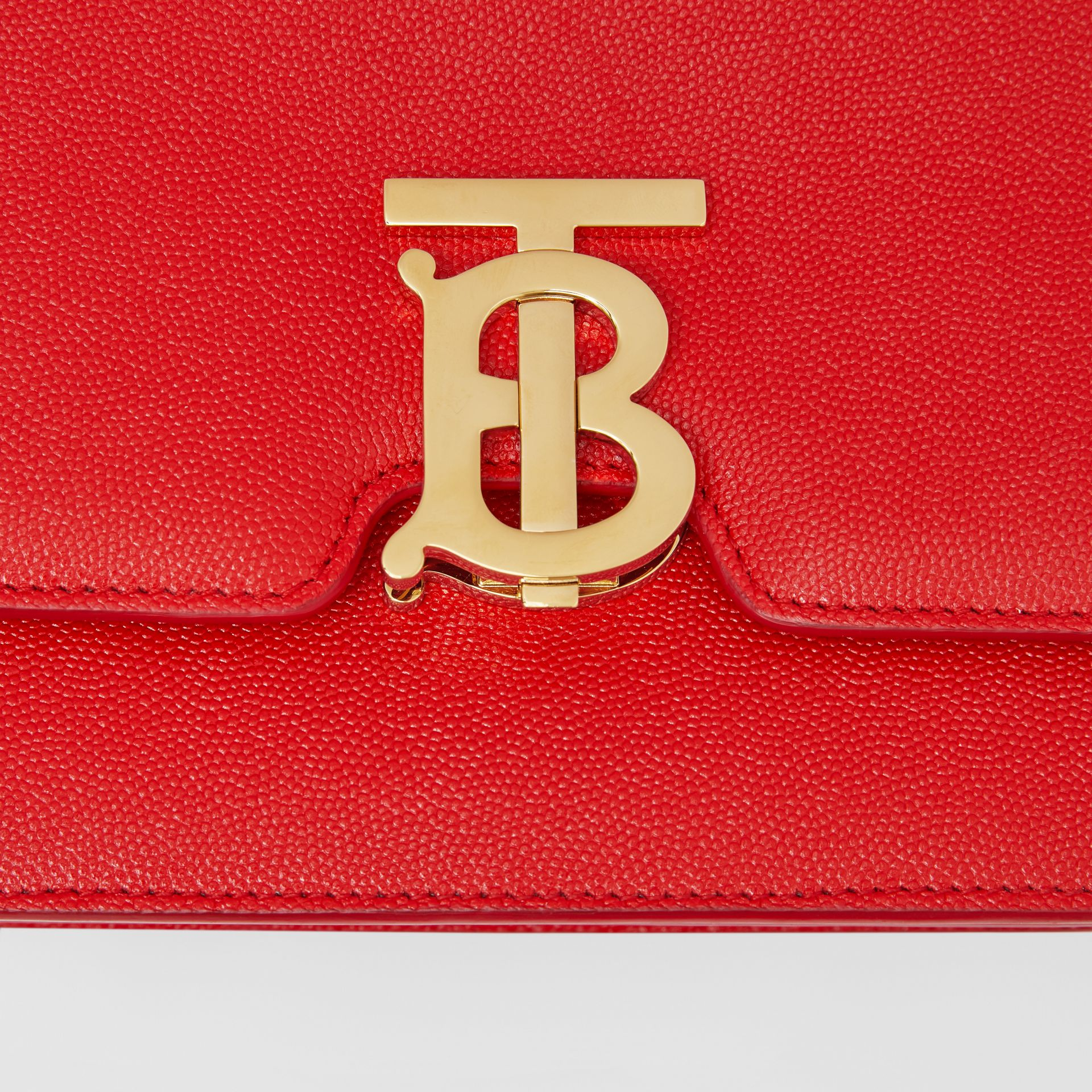 Small Grainy Leather TB Bag in Bright Red - Women | Burberry United Kingdom - gallery image 1