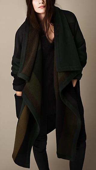 Geometric Blanket Coat