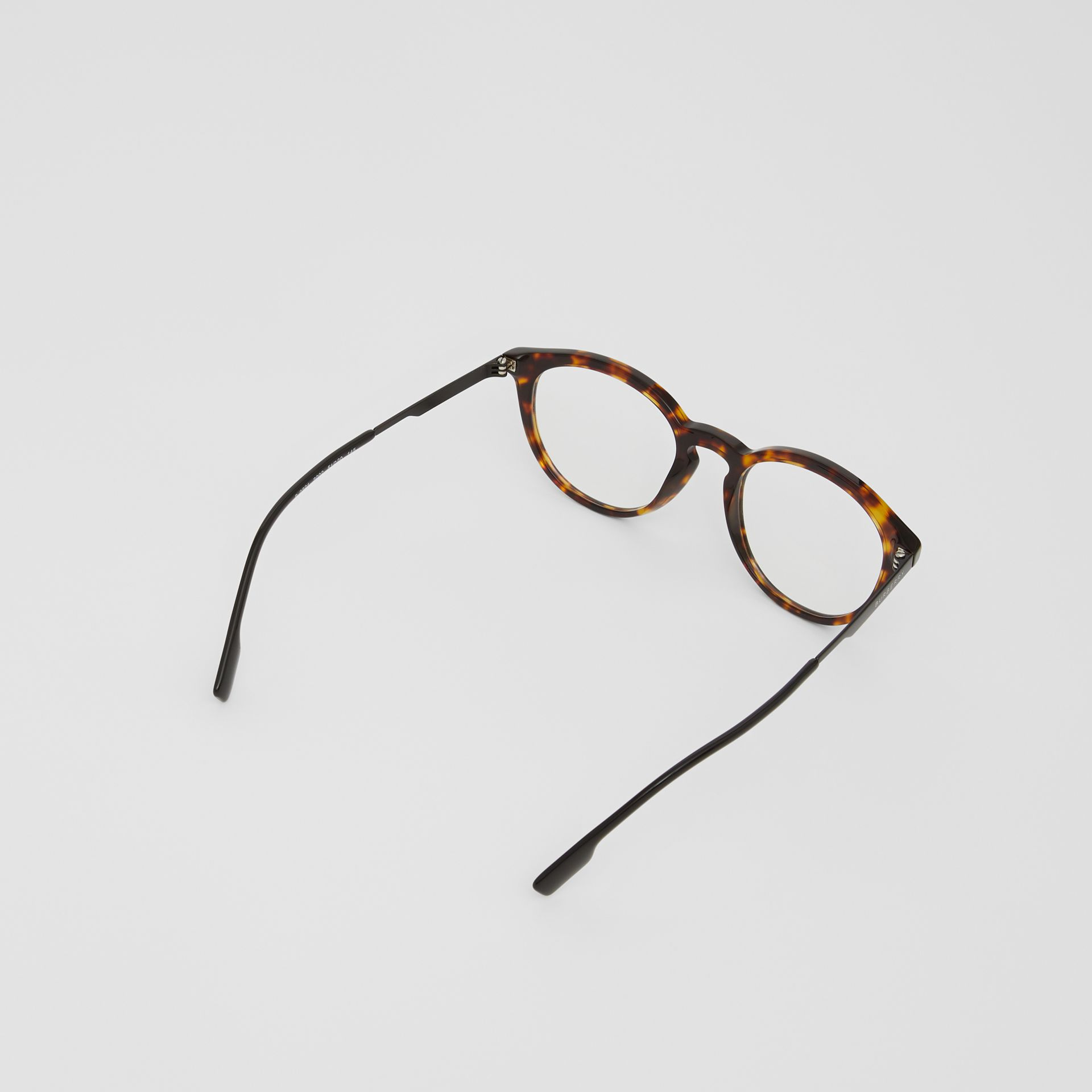 Round Optical Frames in Tortoiseshell - Men | Burberry - gallery image 4