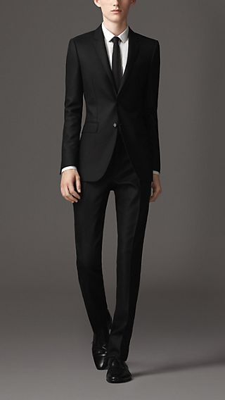 Slim Fit Hopsack Virgin Wool Suit