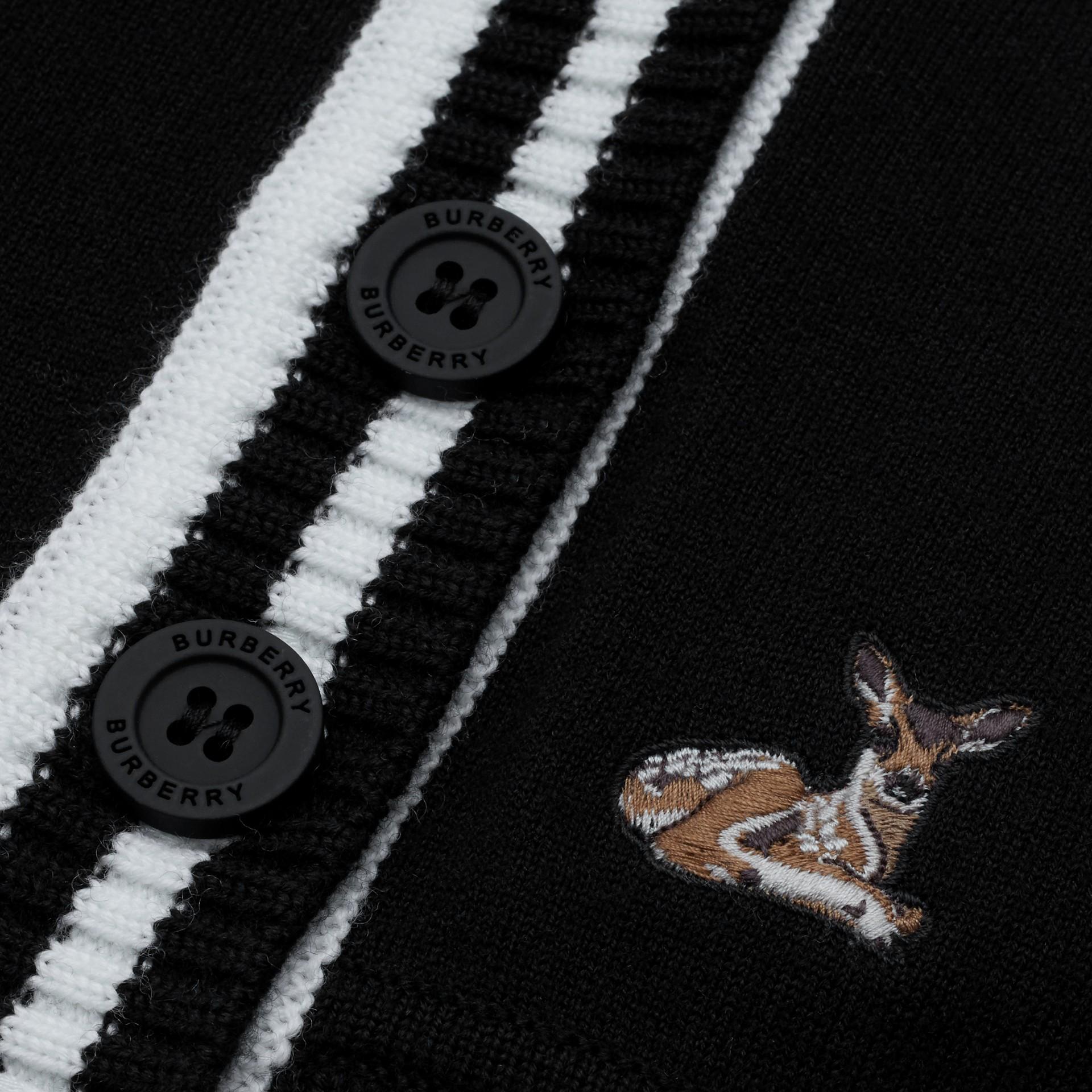 Deer Motif Wool Blend Cardigan - Children | Burberry United Kingdom - gallery image 1