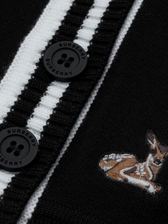 Deer Motif Wool Blend Cardigan - Children | Burberry United Kingdom - cell image 1