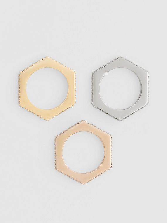 Crystal Rose Gold, Palladium, Gold-plated Nut Rings