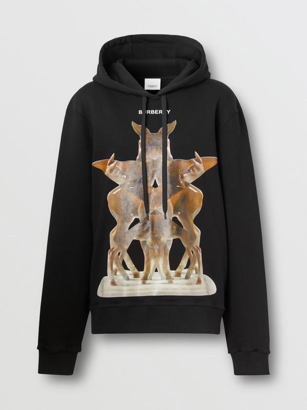 Sweat-shirt à capuche oversize avec imprimé kaléidoscope – Exclusivité en ligne (Noir) - Femme | Burberry - cell image 3