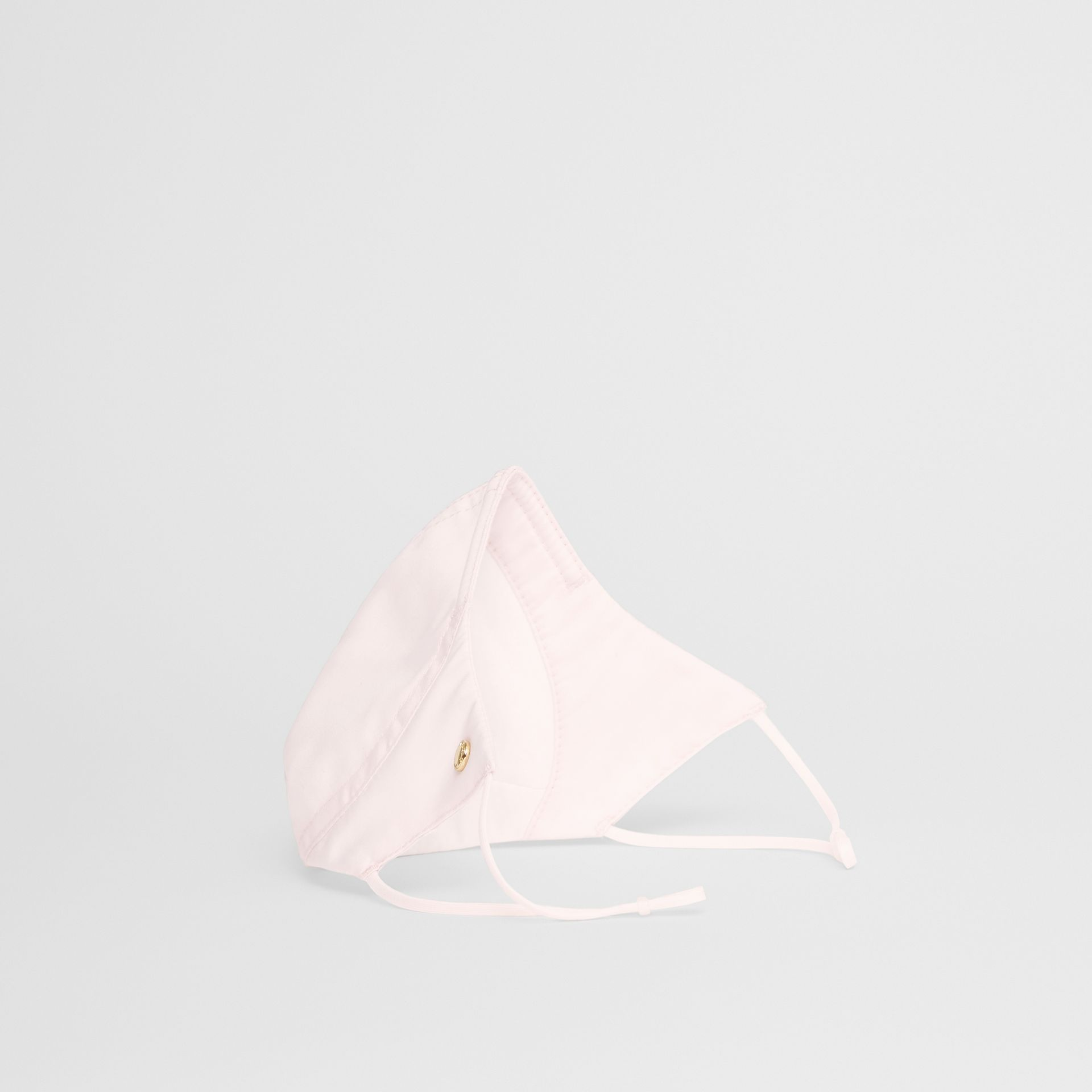 Logo Detail Cotton Face Mask in Alabaster Pink | Burberry - gallery image 5