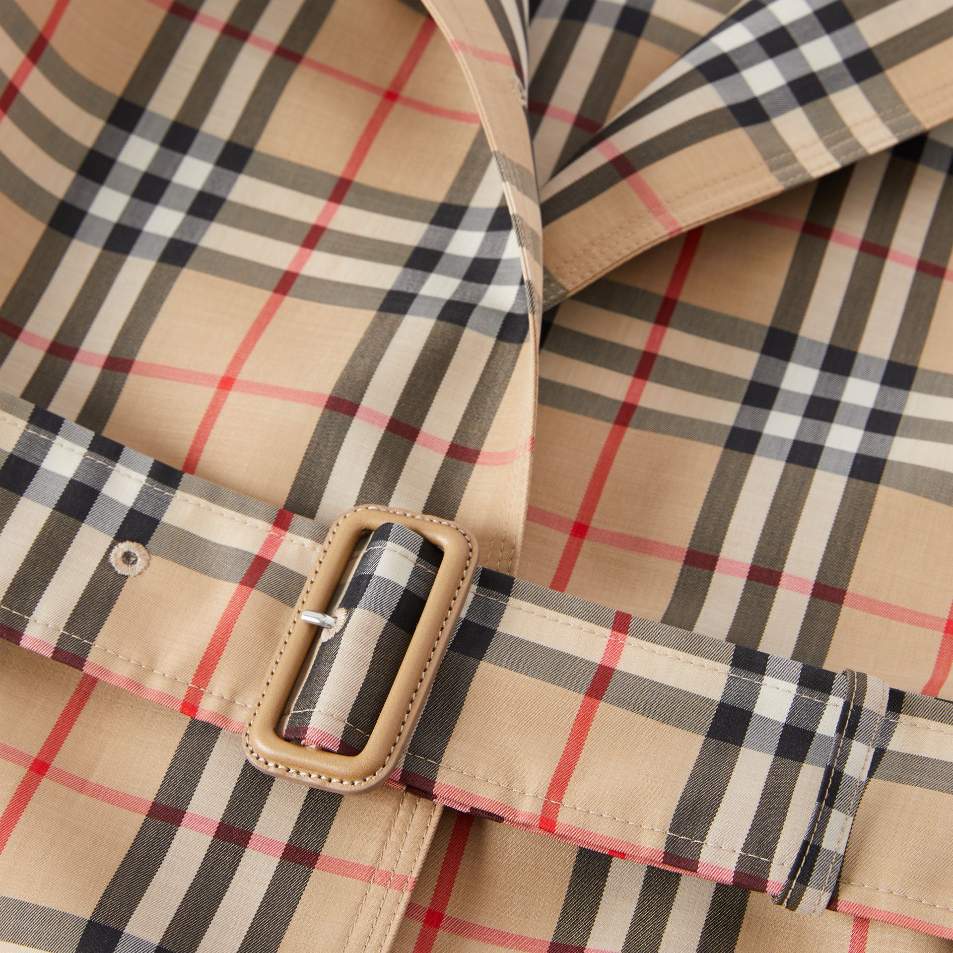 Vintage Check Recycled Polyester Car Coat - Women | Burberry - gallery image 11