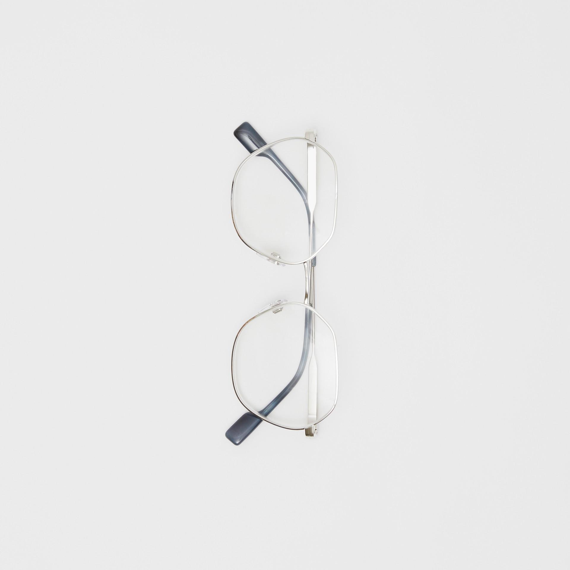 Geometric Optical Frames in Grey Tortoiseshell - Women | Burberry - gallery image 3