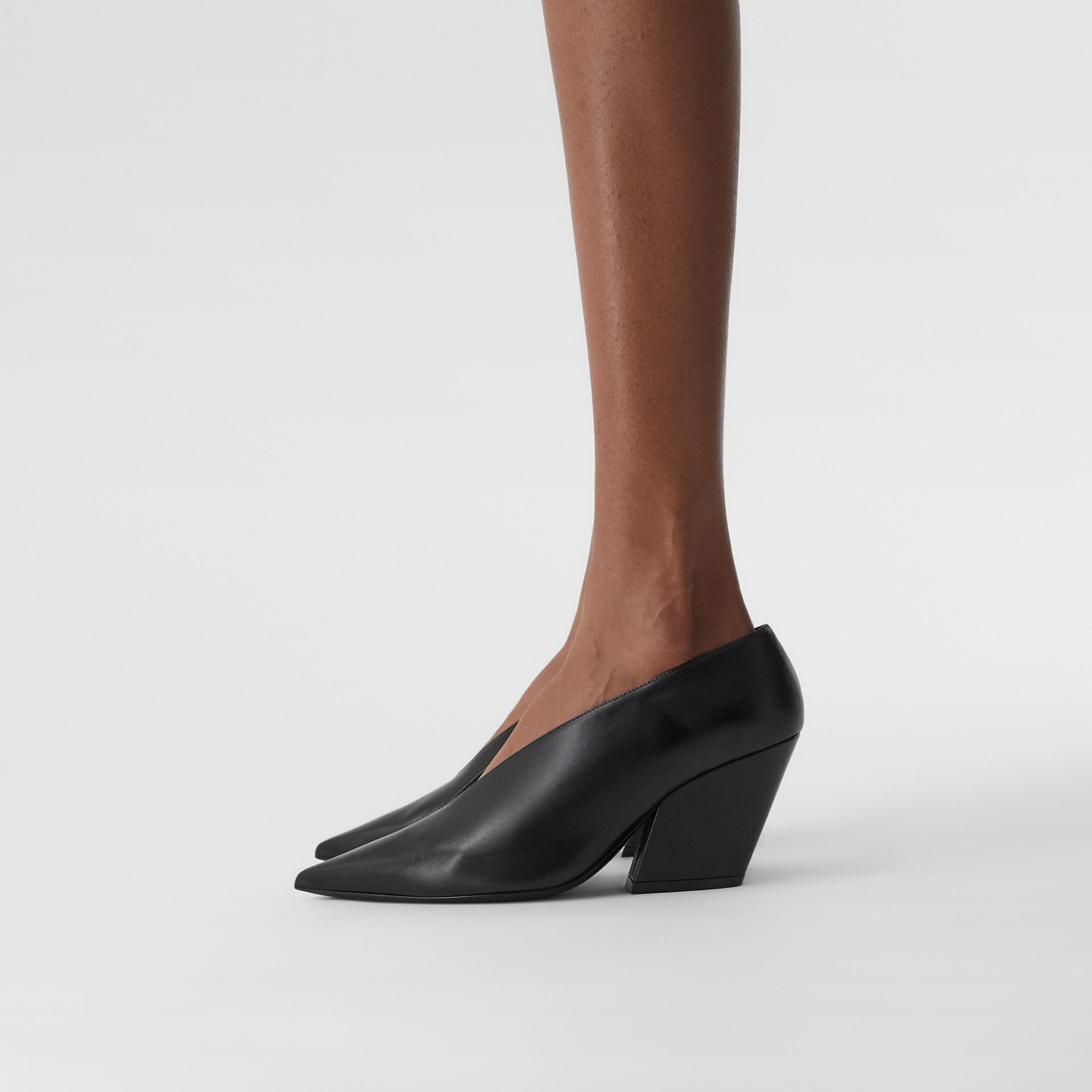 Leather Point-toe Pumps in Black - Women | Burberry - gallery image 2