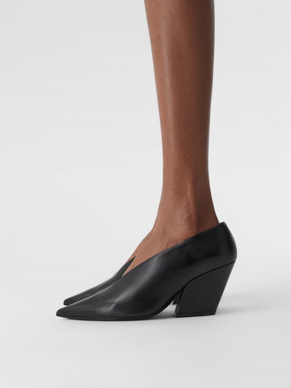 Leather Point-toe Pumps in Black - Women | Burberry - cell image 2