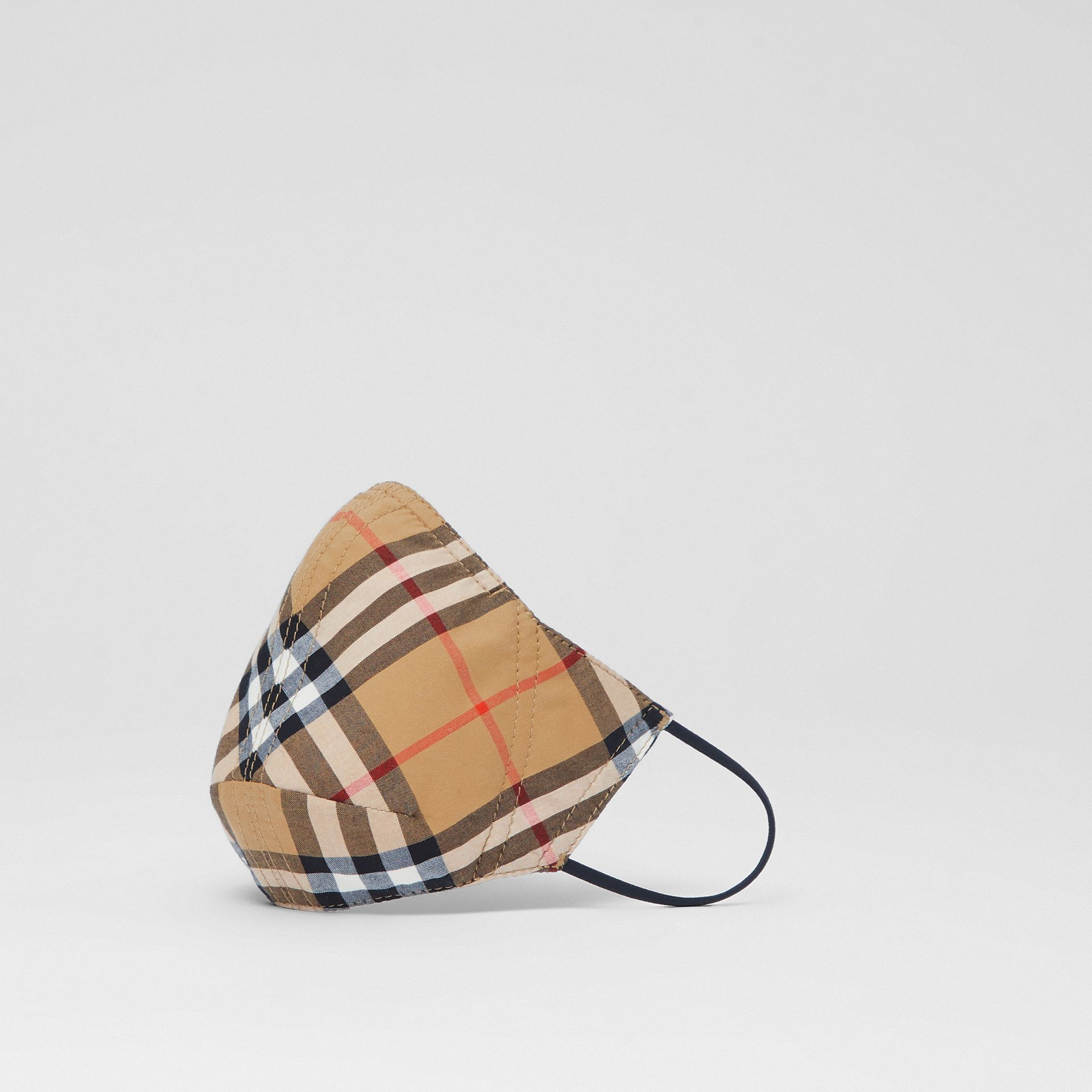 Vintage Check Cotton Face Mask in Antique Yellow | Burberry United States - gallery image 0