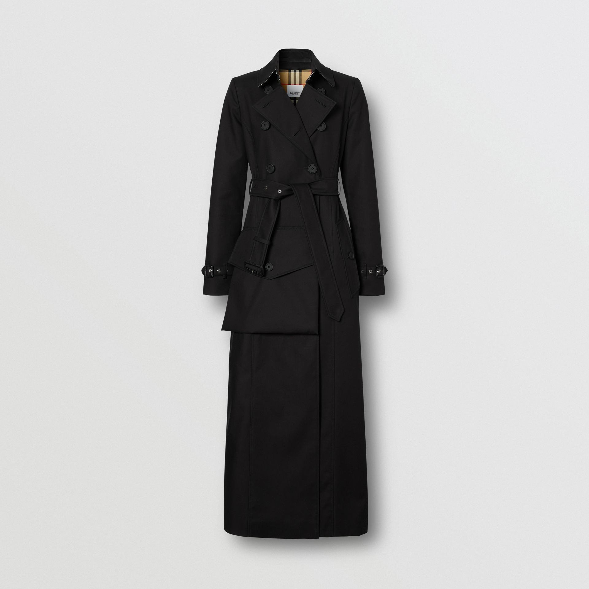 Pocket Detail Cotton Gabardine Trench Coat in Black - Women | Burberry - gallery image 3