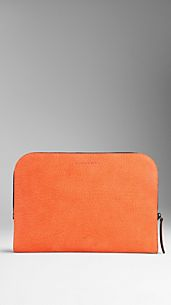 Grainy Nubuck Leather Document Case