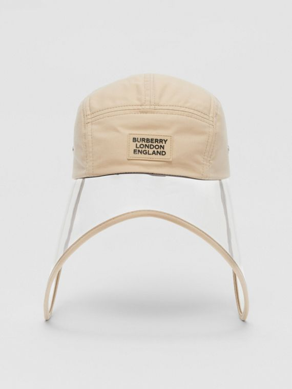 Transparent Detail Cotton Twill Bonnet Cap – Online Exclusive in Soft Fawn
