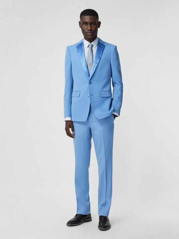 Pantaloni sartoriali dal taglio classico in lana (Blu Cobalto)