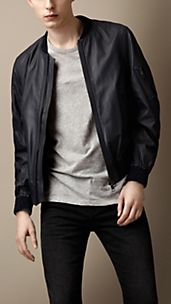 Sport Collection Rubberised Leather Bomber Jacket
