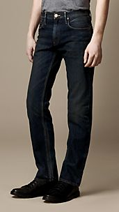 Cavendish Broken Wash Straight Fit Jeans