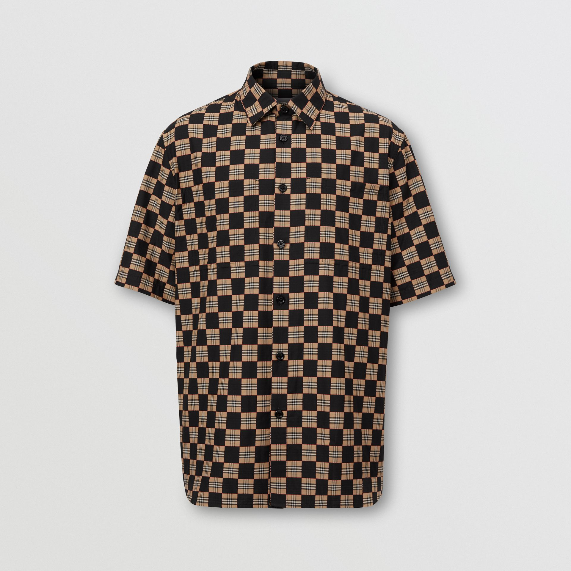 Short-sleeve Chequer Print Cotton Shirt | Burberry United Kingdom - gallery image 0