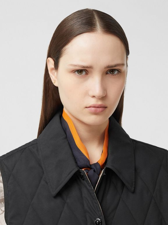 Diamond Quilted Gilet in Black   Burberry United Kingdom - cell image 1