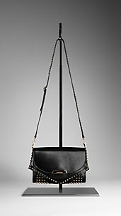 Small Studded Bridle Leather Crossbody Bag