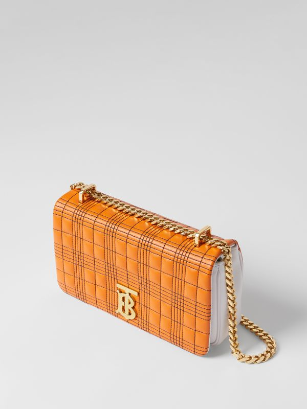 Small Quilted Tri-tone Lambskin Lola Bag in Orange/white - Women | Burberry - cell image 3