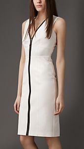 Contrast Seam Corset-Jersey Dress